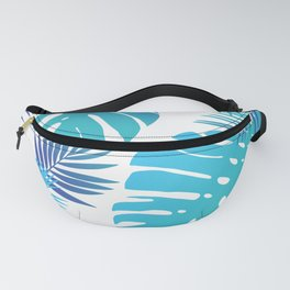 Bright Tropical Leaves Fanny Pack