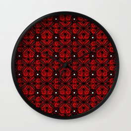 Red Gothic Wall Clock