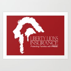 Liberty Lion Insurance Logo Art Print