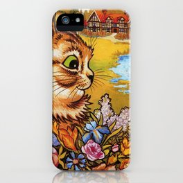 Country Cottage Cat - Louis Wain Cats iPhone Case