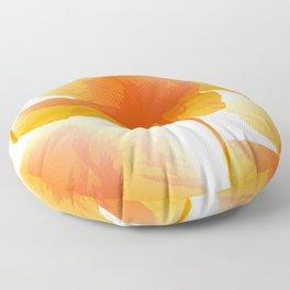 Lovely Orange Poppies White Background #decor #society6 #buyart Floor Pillow