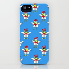 Chicken or Egg? (blue) iPhone Case