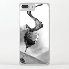 Dine with fine wine Clear iPhone Case