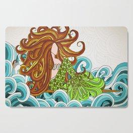 Mermaid Waves Cutting Board