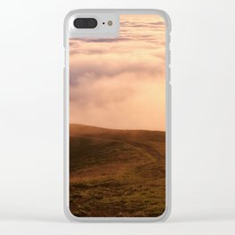 Couple in the Distance on Mt Tamalpais Clear iPhone Case