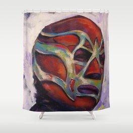 Fishman, a Mexican Luchador Shower Curtain