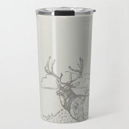 Lodge series - Deer (cream) Travel Mug