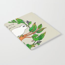 Tarachand's Floral Wreath and Bird with Mother Teresa quote Notebook