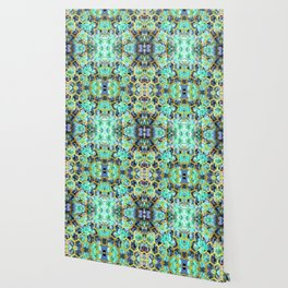 Succulent Geometric Modern Illustration Wallpaper