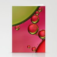 lime green Stationery Cards featuring Lime Green & Strawberry by Sharon Johnstone