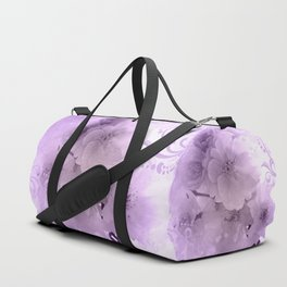 Beautiful flowers in soft violet colors Duffle Bag