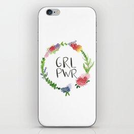 GRL PWR flowers iPhone Skin