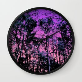 Forest (Sunset) Wall Clock