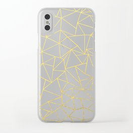 Ab Outline White Gold Clear iPhone Case