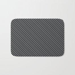 Sharkskin and Black Stripe Bath Mat