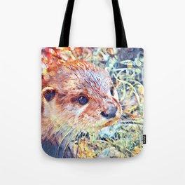 Aquarell Otter Tote Bag