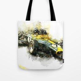 Graham Hill, Lotus 49, 1967 Tote Bag