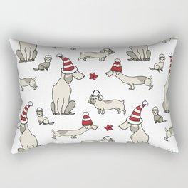Christmas dog party Rectangular Pillow