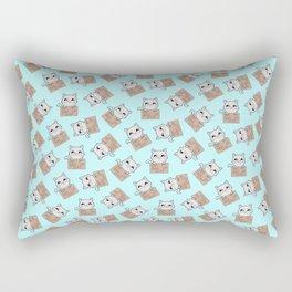 Here's Your Sign - Kitty Cat Says Eat a Bag of Dicks Rectangular Pillow
