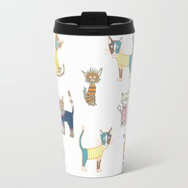 Cats in sweaters Travel Mug
