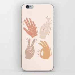 I Don't Know What to Do With My Hands iPhone Skin