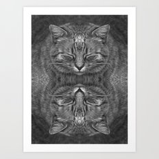 Ginger, in reflection and B&W Art Print