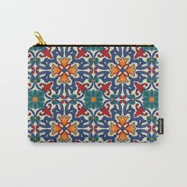Colorful Azulejos Pattern Carry-All Pouch