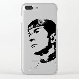Star Trek Spock Portrait Clear iPhone Case