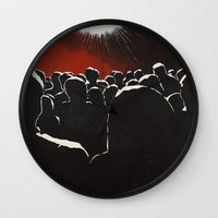 it crowd Wall Clocks featuring Crowd by Shelley Chandelier