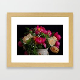 Colourful bouquet Framed Art Print