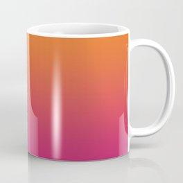 Pink Orange Red Gradient Pattern Coffee Mug