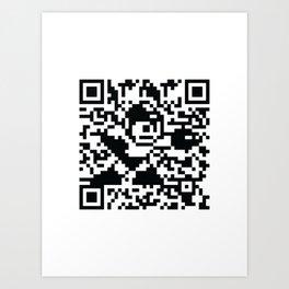 Mega Man QR Code 8-Bit Art Art Print