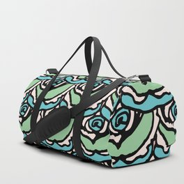 Rock Rose Green Duffle Bag
