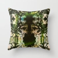 parks and rec Throw Pillows featuring REC by C. Wood