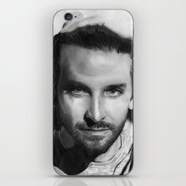 Bradley Cooper Traditional Portrait Print iPhone Skin