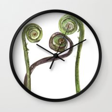 Etched Into Nature No.2 Forest Fiddlehead Ferns Wall Clock