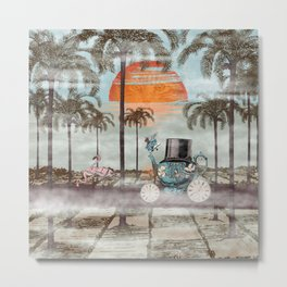 Alice Goes to California Metal Print