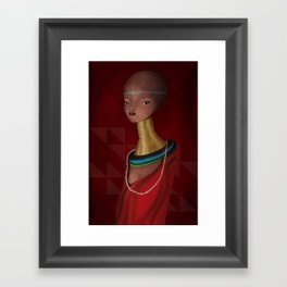 nude1 Framed Art Print