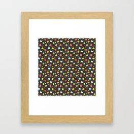 Cartoon Speech Bubbles Framed Art Print