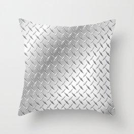 metalic plate Throw Pillow