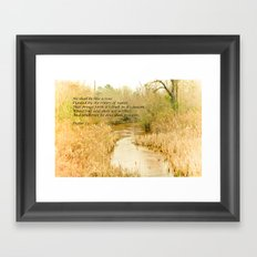 Planted by the Water Framed Art Print
