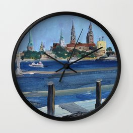 Pearl of the Baltics Wall Clock
