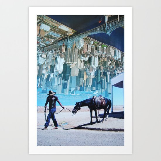 Lead A Horse To Water Art Print