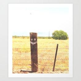 A Happy Post Art Print