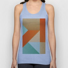 Abstract art - Color pattern 2 - green, orange , gold Unisex Tank Top