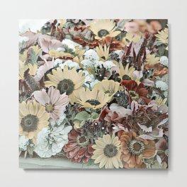 Toony World - floral 4 Metal Print