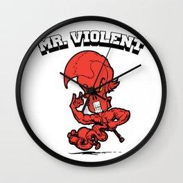 Mr. Violent (Cinnabar) Wall Clock
