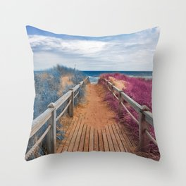 Passion Beach Boardwalk Throw Pillow