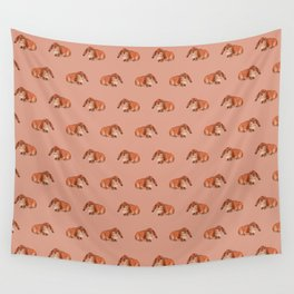 Red rabbit ram Wall Tapestry