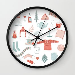 Hygge Cosy Things Wall Clock